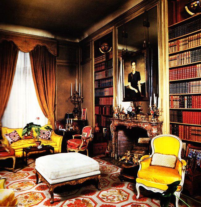 Red, Gold And White Antique Needlepoint Rug. Maison Jansen For The Duke  Duchess Of Windsor