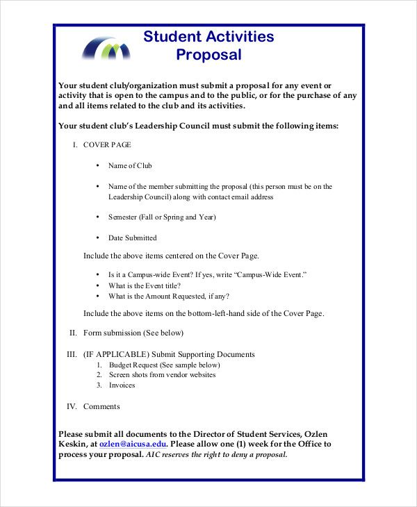 Project Proposal Template Project Proposal Template Proposal