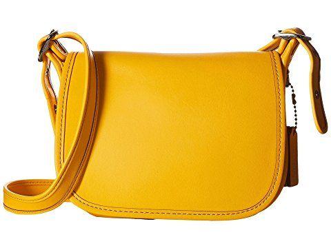 COACH Glovetanned Leather Saddle Bag 18
