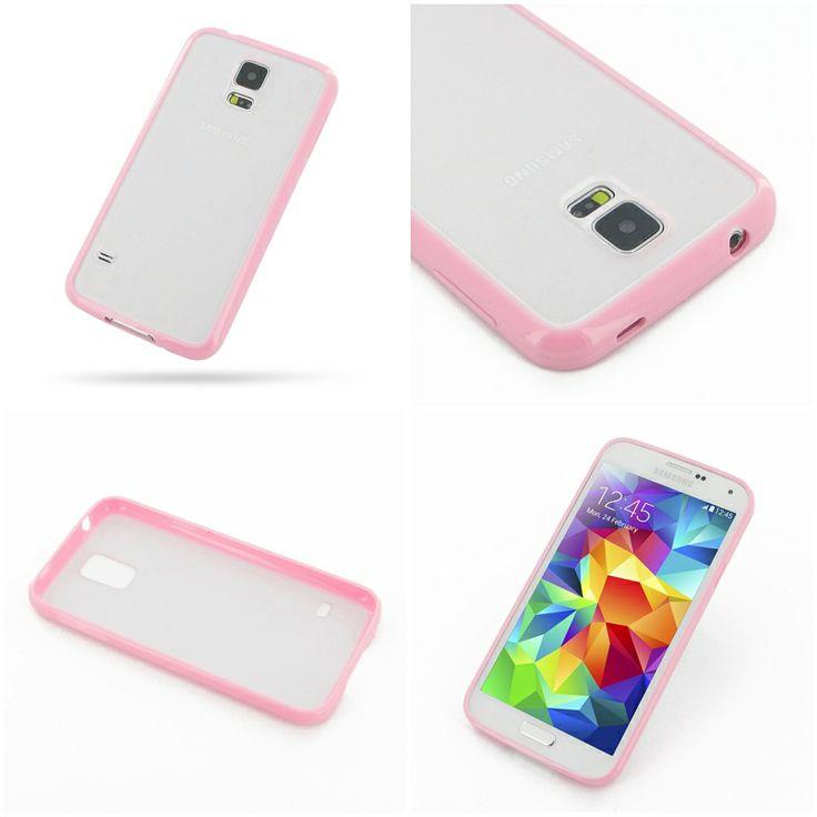 PDair Soft Gel Bumper Skin Case Cover for Samsung Galaxy S5 SM-G900 (Pink)
