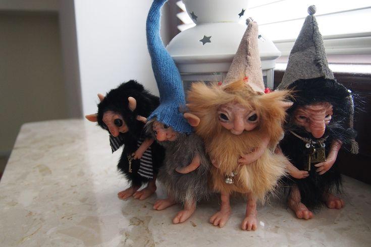 OOAK fantasy art dolls trolls gnomes by Muyestillo