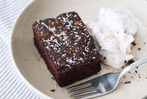 Zwarte bonen brownies met kokosslagroom (glutenvrij, lactosevrij) // Mesa Verde blog