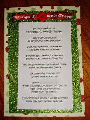 cookie exchange poem | Cookie Exchange | Christmas cookie ...
