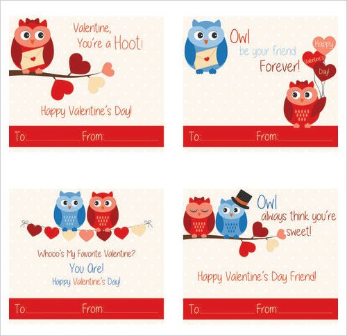 421 best Valentine images – Owl Valentines Day Cards