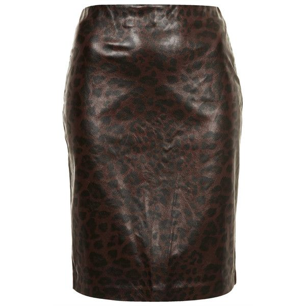 TOPSHOP Leopard Print Pencil Skirt ($20) ❤ liked on Polyvore featuring skirts, tan, topshop skirts, brown pencil skirt, tan pencil skirt, pencil skirts and leopard print pencil skirt