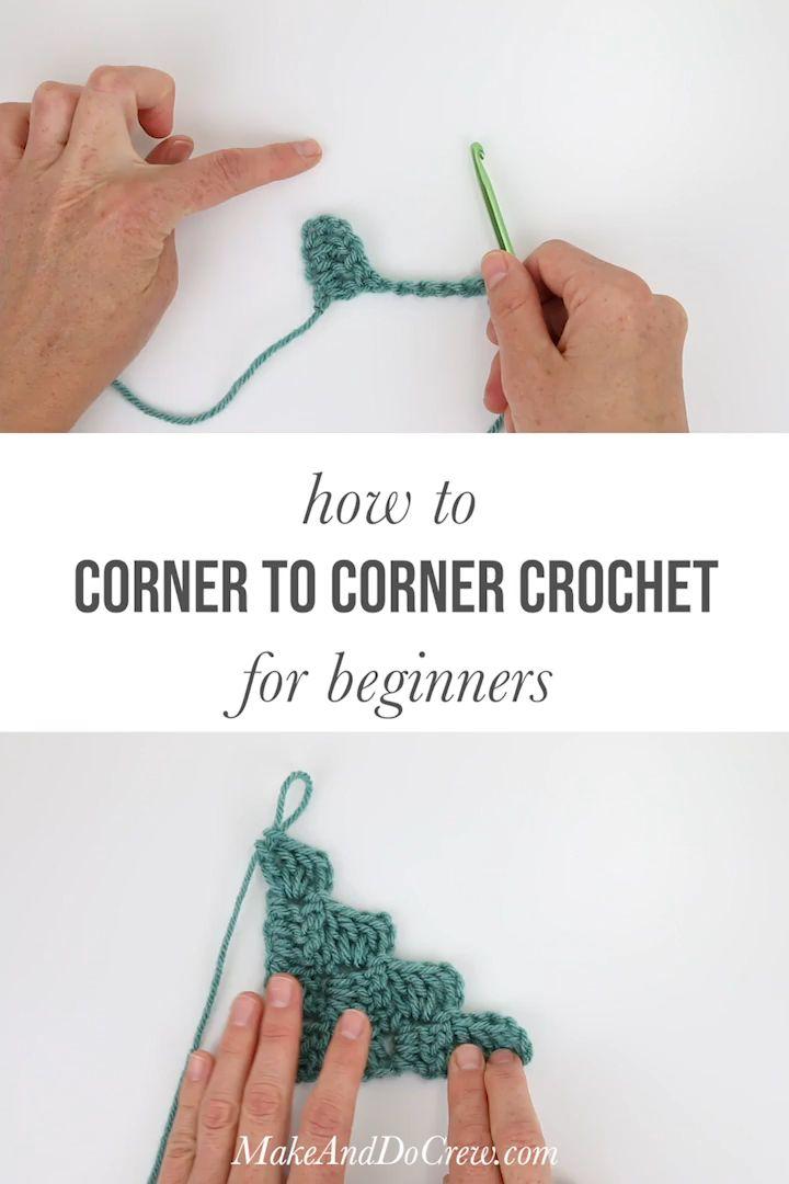 Wie man für Anfänger von Ecke zu Ecke häkelt   – Corner to Corner (c2c) Crochet Patterns, Tutorials + Tips