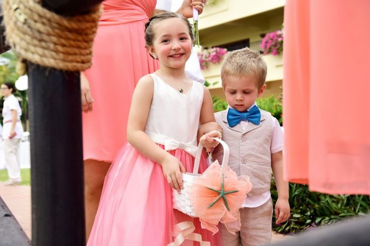 The most adorable flower girl and ring bearer to ever grace the walks of Mexico for this destination wedding @velasvallarta