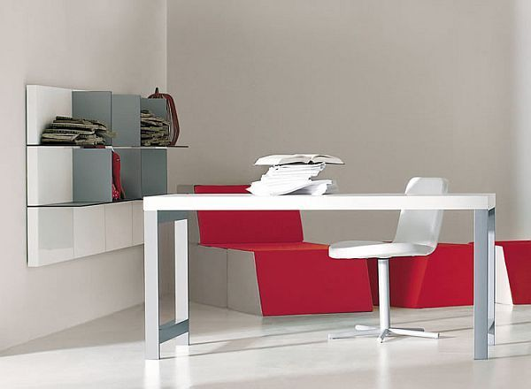 Effective Desk Design With Hidden Storage: Slope Desk