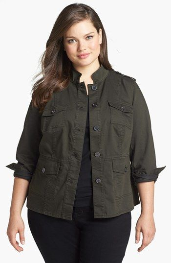 Two by Vince Camuto Utility Jacket (Plus Size) | Nordstrom