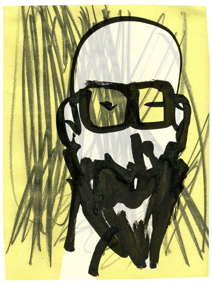 Nerd Face #illustration #mixedmedia #marcocampedelli