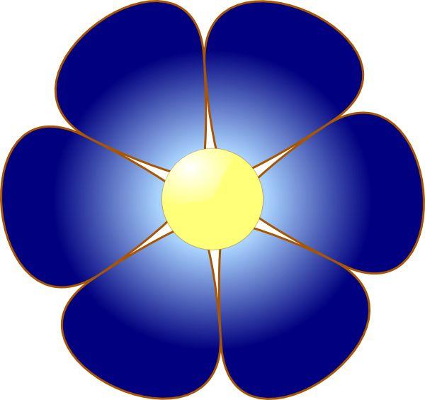 Dark Blue Flower Clipart