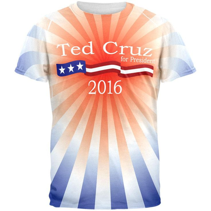 Election Ted Cruz President 2016 All Over Adult T-Shirt