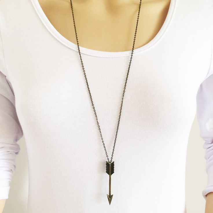 US $0.68 New fashion jewelry long chain arrow pendant necklace gift for women girl N1763 aliexpress.com