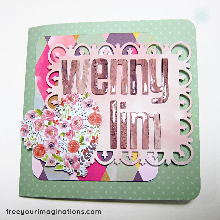 This is the Outside View of VALENTINE CARD for girlfriend with Green Polkadot Design Theme