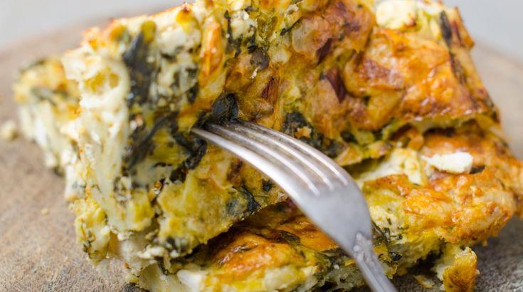 Спанакопита или просто пирог со шпинатом и брынзой | Sifood