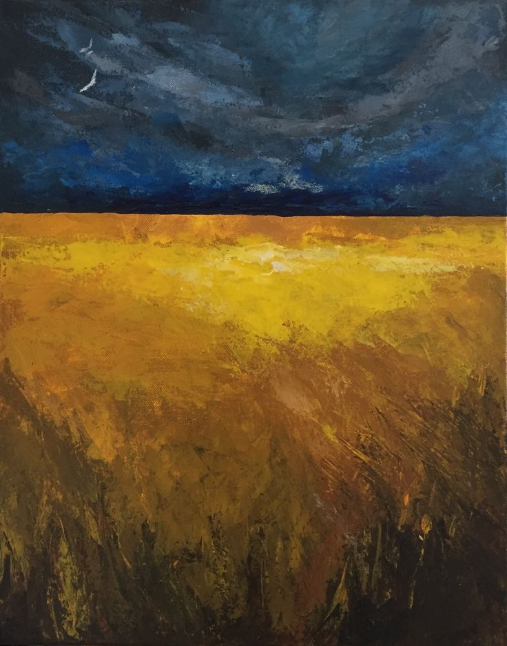 Acrylic painting/ Golden field / AU$200. (on canvas) Size: 51x41cm