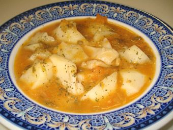 caldereta de patatas con sepia