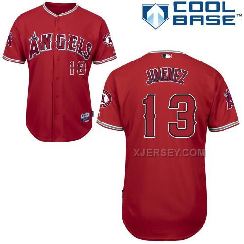 http://www.xjersey.com/angels-13-jimenez-red-cool-base-jerseys.html ANGELS 13 JIMENEZ RED COOL BASE JERSEYS Only $43.00 , Free Shipping!