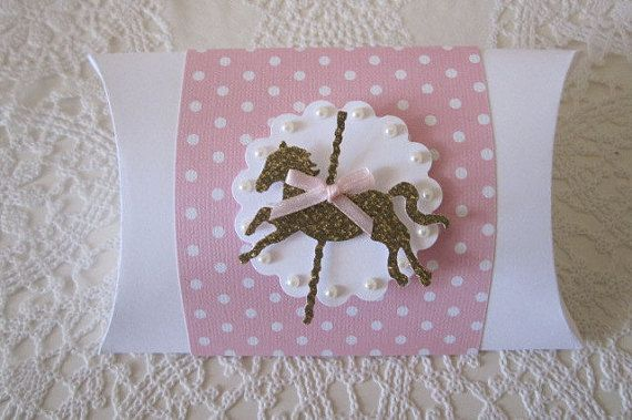 Baby Favor Boxes Carousel Horse Favor Boxes Baby by ByAdalynn