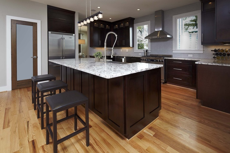 White Kitchen Cabinets With Light Wood Floors