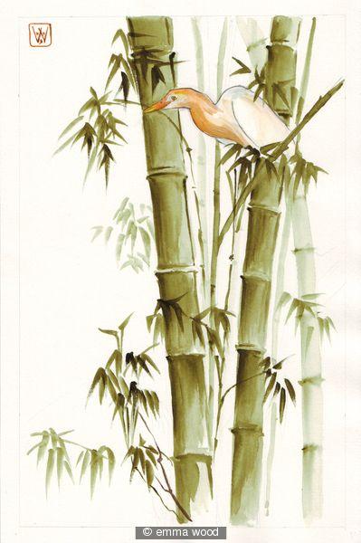sumi bamboo art