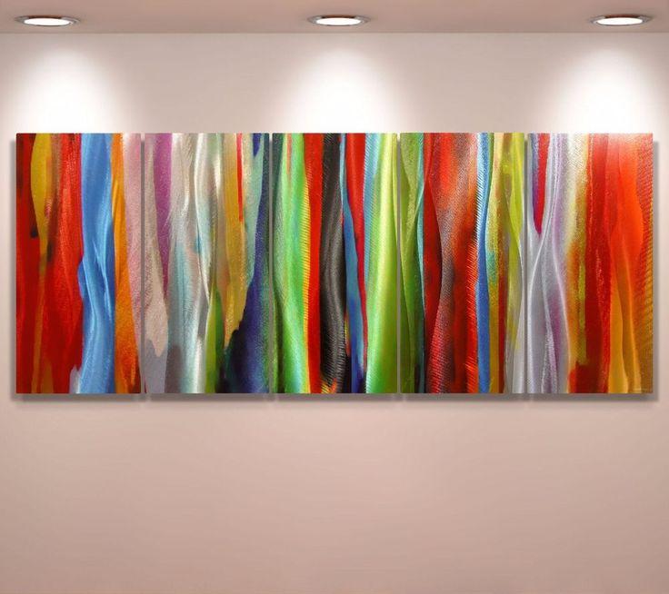 Aluminium Metal** Modern Abstract Wall Art Original painting Large Contemporary  #Abstract