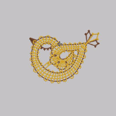 LACE, Embroidery, freeby, bird