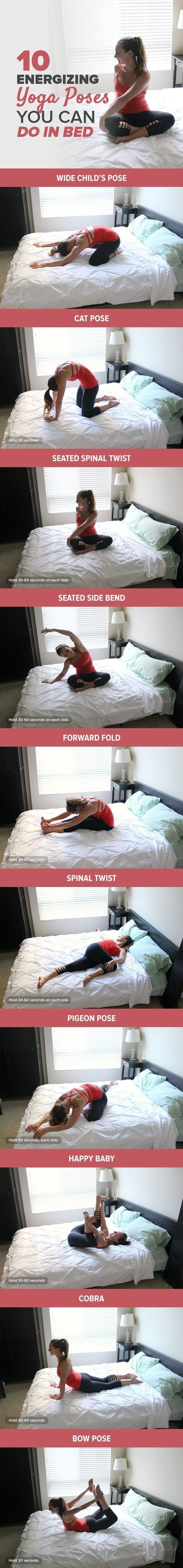 #Every #morning, #start your #day with this #morning #yoga #routine to #energize your #body and #jolt you #awake #faster than any #latte. The #best #part? You #don't even have to #leave your #bed!
