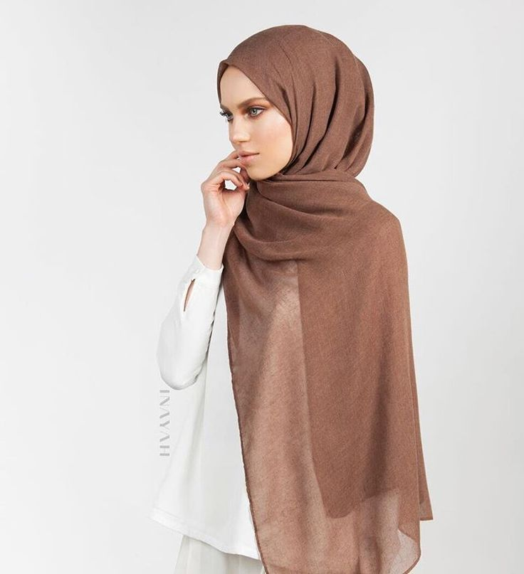 INAYAH | Browse our range of hand-dyed hijabs available in a varied set of shades and hues designed to compliment your winter ensembles. Tan Brown Modal Hijab www.inayah.co
