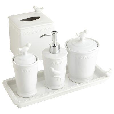 White Bird Stoneware Bath Accessories Ceramic