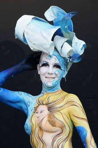 https://flic.kr/p/mVQiMx   bodypainting   Los colores para la pintura corporal son sólidos para pintar con pincel, brocha, esponja o dedos mojados, pero después de diluido se puede usar con el aerógrafo. Los colores se diluyen con agua y también con agua se quitan. Las pinturas aquí: aerografia-fengda.es/es_ES/c/Pintura-facial-y-corporal-Bo...