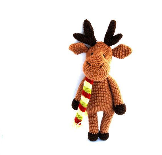 reindeer crocheted amigurumi brown christmas reindeer by crochAndi