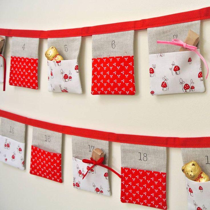 Handmade Bunting Advent Calendar ~ Fairy Toadstools