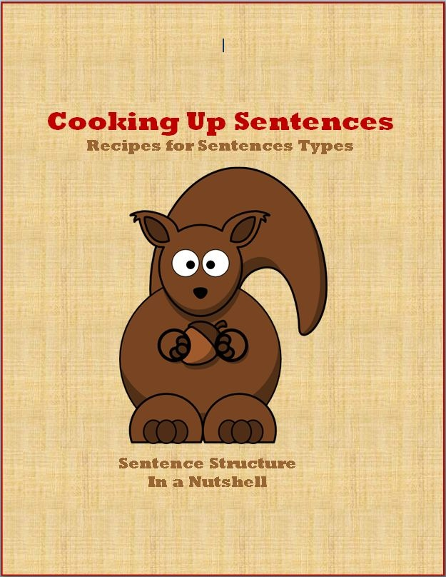 "In this concise yet comprehensive guide, students are taught basic sentence structure through the four types of sentences - simple, compound, complex, and compound-complex - in a unique fashion: through creating recipes! Students learn the basic sentence components from the ground up and how to add ""flavor"" to their writing without losing the structure and meaning of a good sentence. $5 #Grammar #Lessons #Study #Homework #Reference"