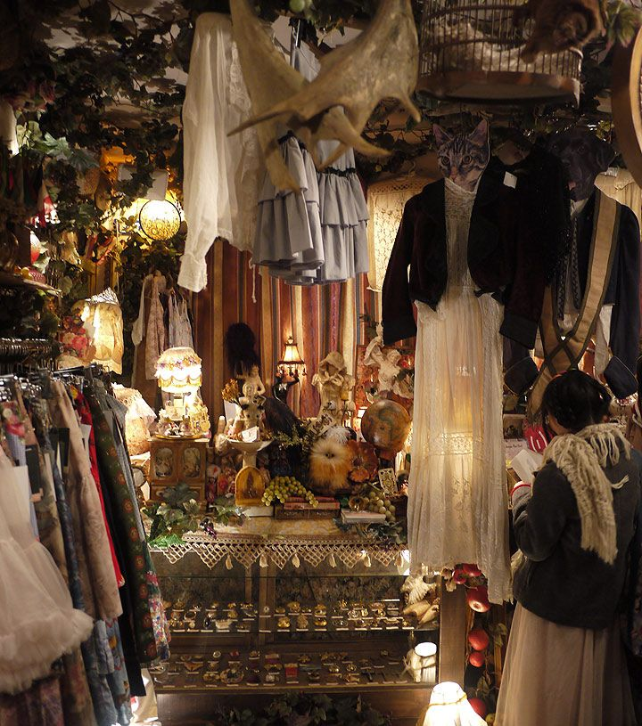 Grimoire shop in Shibuya, Tokyo  vintage trends tokyovintage tokyo style shopping shibuya grimoire fashion dolly kei