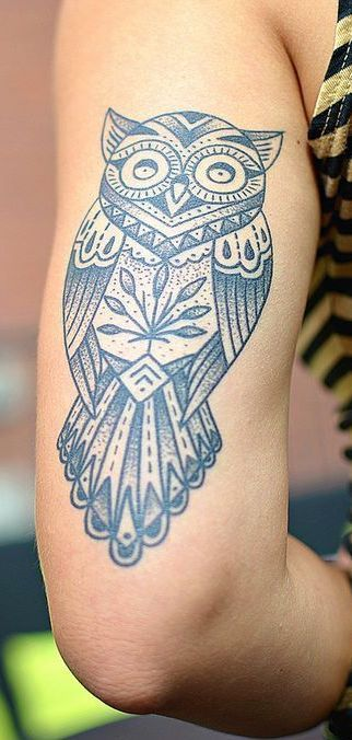 tattoo old school / traditional ink - owl
