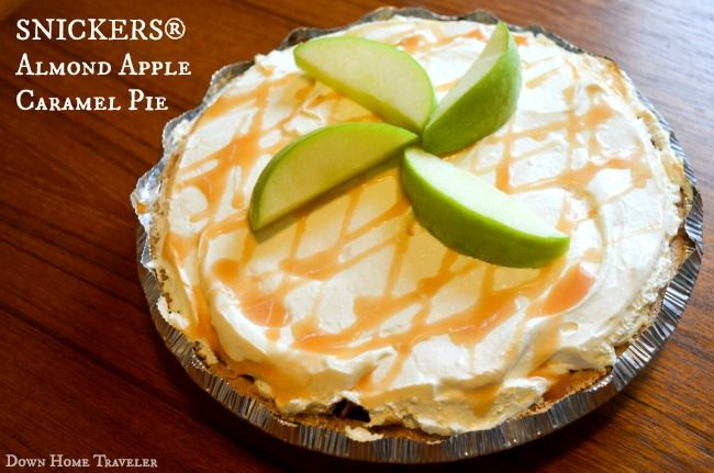 SNICKERS® Almond Apple Caramel Pie   Down Home Traveler #WhenImHungry #Ad #SnickersPie