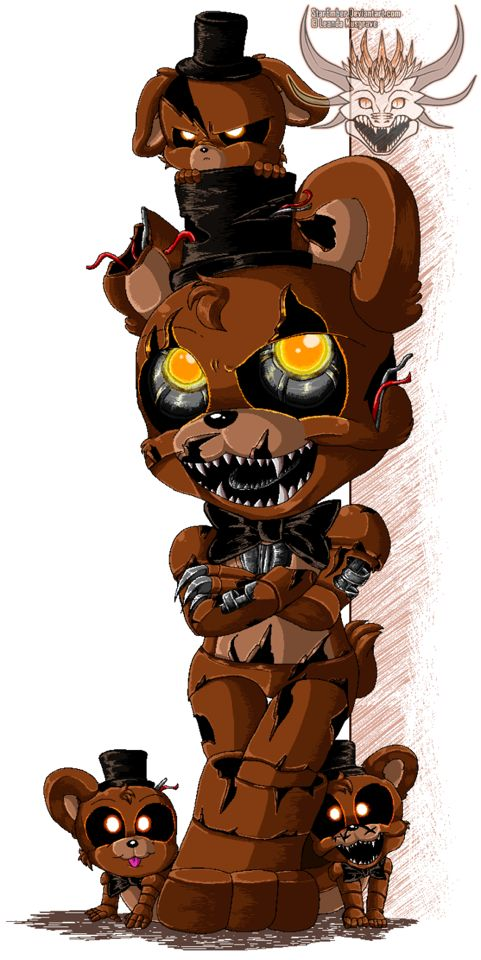 So wait. If their mini versions of Freddy, then that would mean, that they're-they're, FREDDY'S CHILDREN?!?!?!?!?
