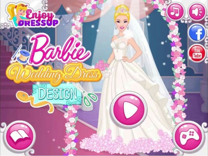 Beau Barbie Wedding Dress Design   Barbie Dress Up Game | Fashion Dolls |  Pinterest | Barbie Wedding Dress, Barbie Wedding And Barbie Dress