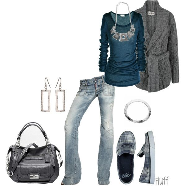 touch of gray, created by fluffof5 on Polyvore... GOES great with My new boots !
