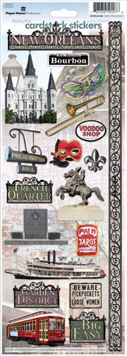 Paper House Productions - New Orleans Collection - Cardstock Stickers - New Orleans 2 at Scrapbook.com $2.25