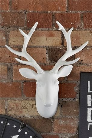 We love this white resin stag's head from Next, Eldon Square - £35. Guaranteed to make you feel like the master of all you survey!