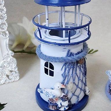 arredamento matrimonio fresco a forma di faro candela ferro lanterna (più colori) – EUR € 12.99 lightinthebox