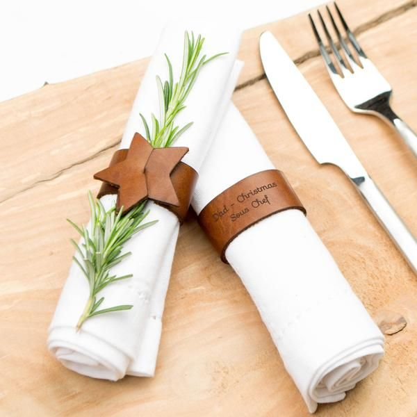 These stunning leather Star Napkin Rings will make a real talking point round the dinner table. The perfect accompaniment for a dinner party or Christmas.