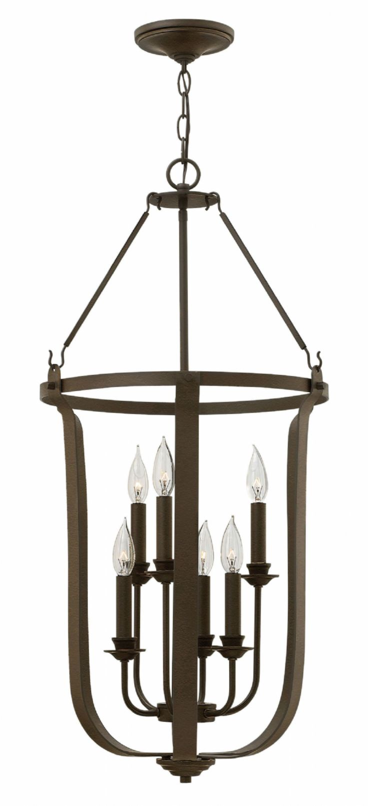buy the hinkley lighting textured bronze direct shop for the hinkley lighting textured bronze 6 light full sized foyer pendant from the fenmore collection