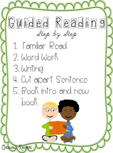 Guided Reading in Kindergarten | Growing Kinders.  She has some good ideas for guided reading in kindergarten.  Not sure if I would do the steps in this order, but still good to have.