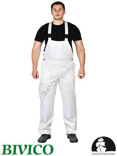 promocja! Białe spodnie ochronne ogrodniczki LH-BISTER