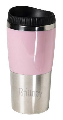 Retro Pink Stainless Steel Tumbler with your engraving Special Offer: $14.95