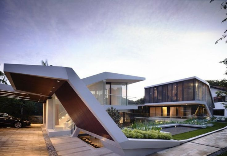 Undulating urban garden in Singapore: Andrew Road House by A D Lab via @Pursuitist Luxury Luxury