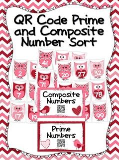 FREE QR Code Prime/Composite Number Sort AND Even/Odd Version